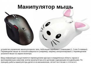 Манипулятор мышьустройство управления манипуляторного типа. Небольшая коробочка