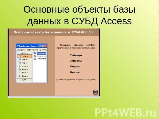 MS Access 2003 Урок 1 - Инженерный лицей НГТУ.
