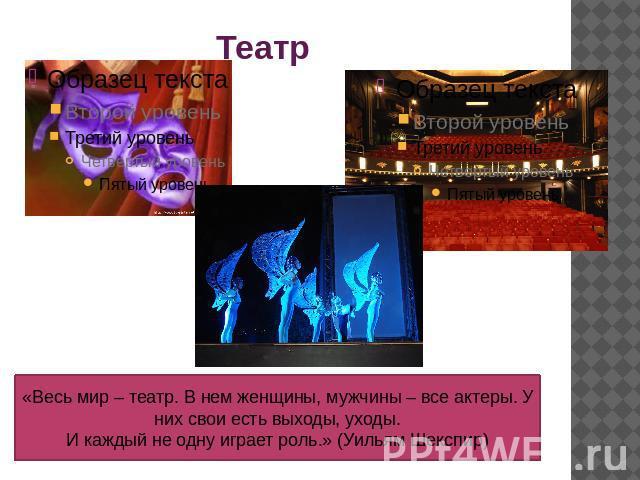 Виды театра презентация