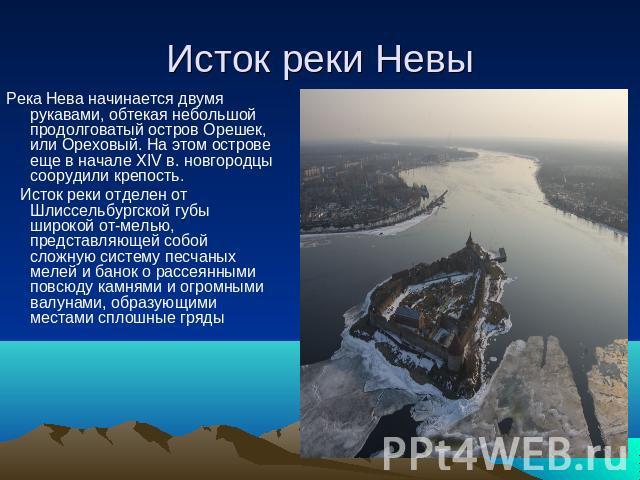 Нева где находится её исток