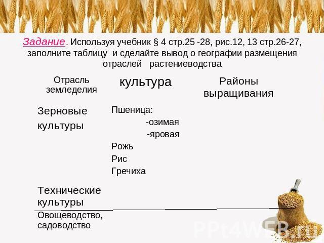 Задание. Используя учебник § 4