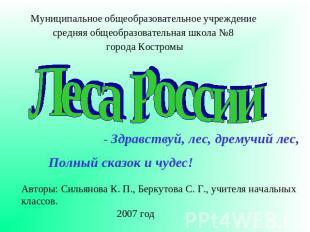 Школа 8 города костромылеса россии