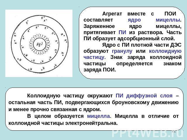 знак заряда коллоидной частицы определяется знаком
