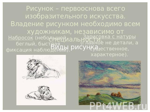 основы изобразительного искусства: