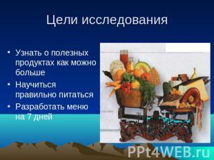 здоровое питание описание