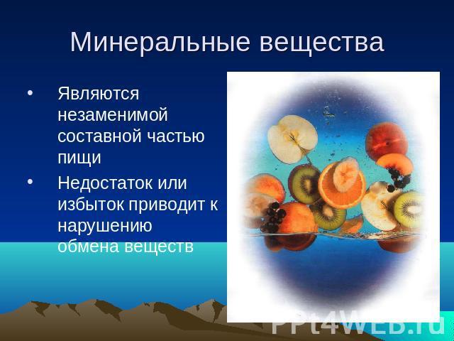 здоровое питание 5 класс презентация