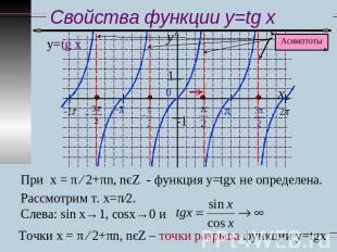 Функции y=tg x и y=ctg x, их свойства и графики - презентация по ...