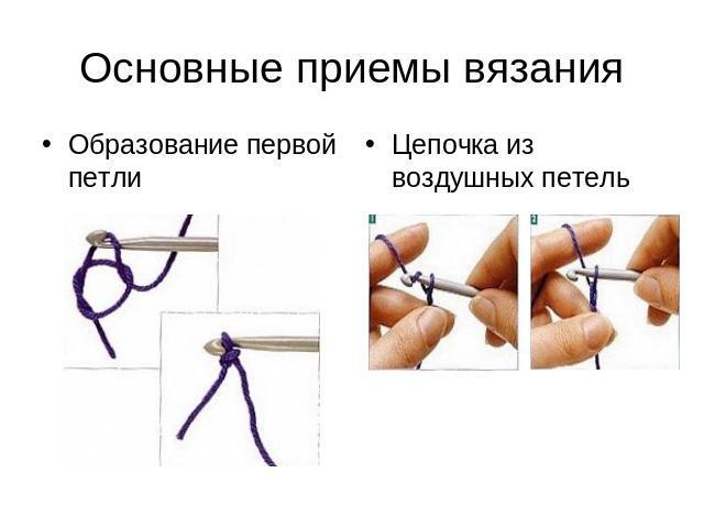 Начальные уроки вязания крючком