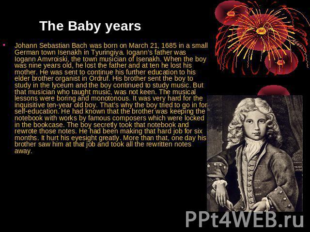 Johann Sebastian Bach: The Learned Musician Summary