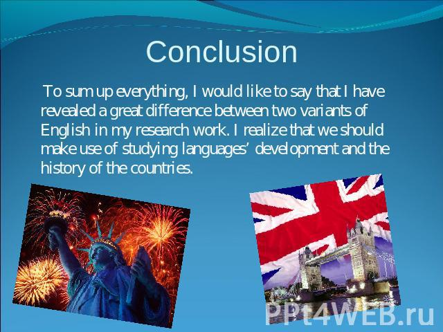 Make Conclusion
