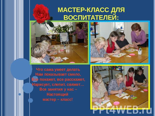 Мастер класс для воспитателей по проектной деятельности в доу - Mi-k.ru