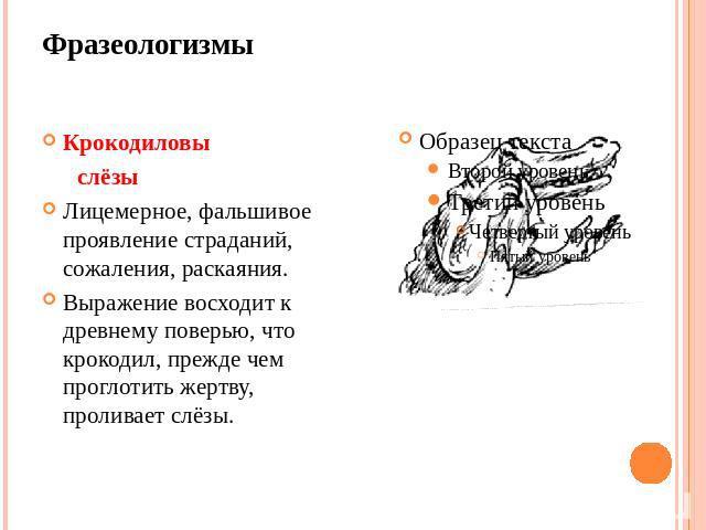 Смотреть что такое  Крокодиловы слезы  в других словарях: