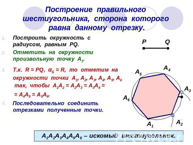 Как сделать шестиугольник с равными сторонами