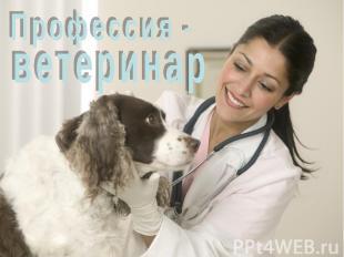 Презентацию на тему профессия ветеринар