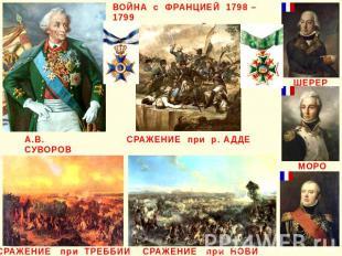ВОЙНА с ФРАНЦИЕЙ 1798 – 1799 ИТАЛЬЯНСКИЙ ПОХОД СРАЖЕНИЕ при р. АДДЕ СРАЖЕНИЕ при