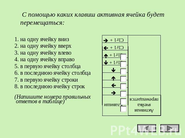 знакомство с таблицами 2 класс