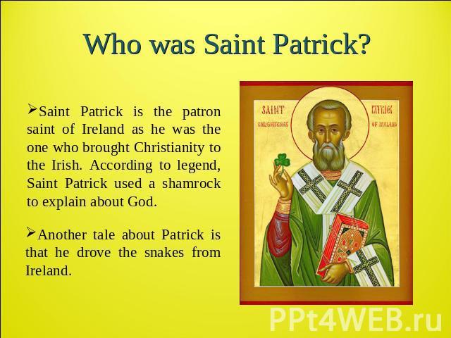 Презентация святой патрик