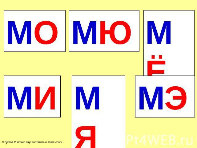 знакомство с буквой м для дошкольников