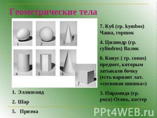 Тему на презентация куб геометрия