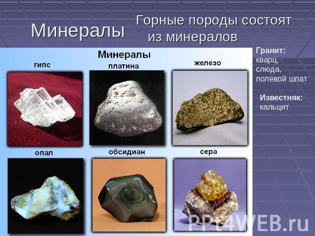 о минералах картинки