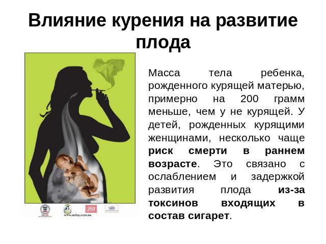 влияние курения и алкоголизма