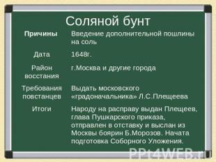 Презентацию по теме народные движения в 17 веке