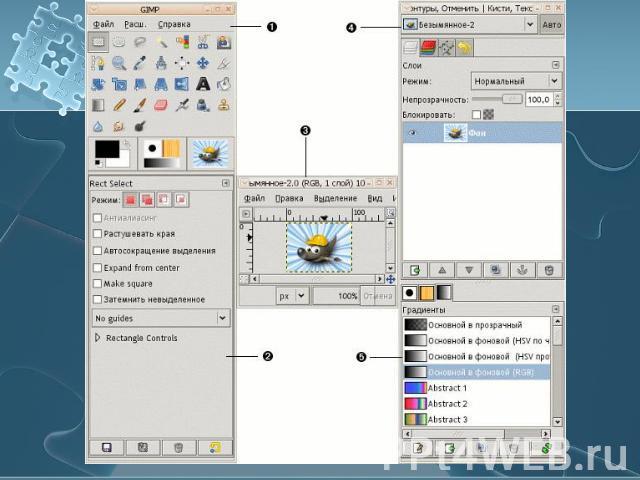 знакомство с графическим интерфеисо windows
