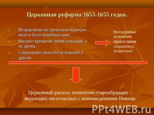исправления церковных книг патриархом иосифом: