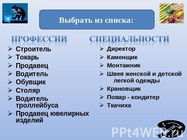 """Презентация на тему """"Мир профессий и твое место в нём"""" скачать бесплатно"""