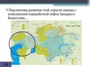 Перспектива развития этой отрасли связана с комплексной переработкой нефти Запад