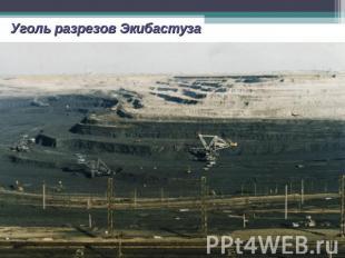 Уголь разрезов Экибастуза