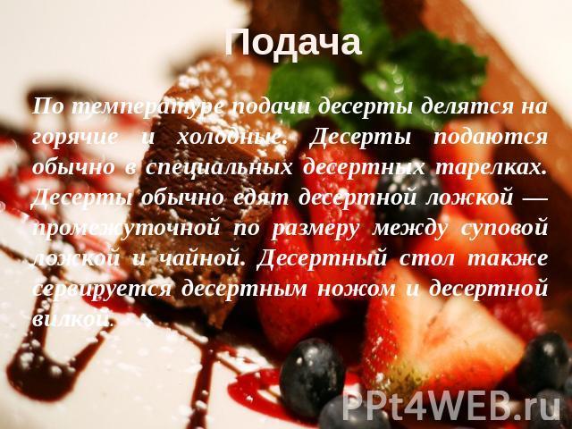 Реферат на тему десерты рецепты с фото