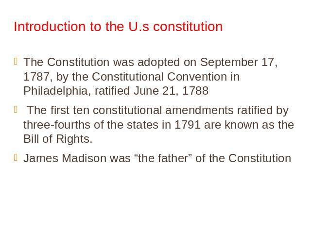 the historical background and role of the american constitution Constitution faqs traveling history and civics the constitution of the united states: the u s constitution was written in the same pennsylvania state.