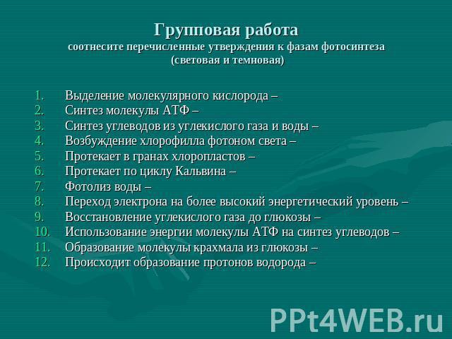"""Презентация на тему """"Темновая фаза фотосинтеза"""" - скачать ...: http://ppt4web.ru/biologija/temnovaja-faza-fotosinteza.html"""