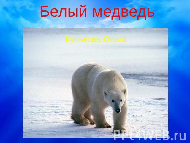 все про белого медведя видео