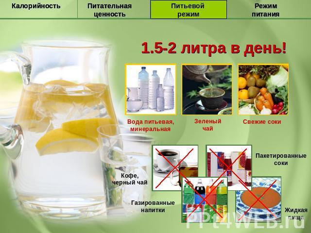 5 литров воды для похудения