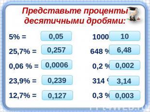 Презентацию по математике по теме проценты
