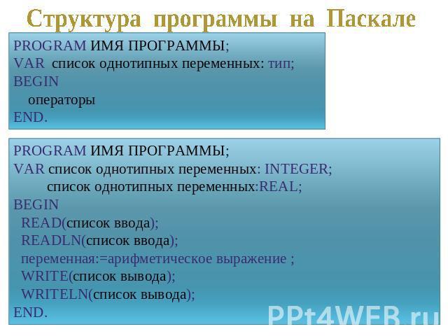 презентация по информатике знакомство с языком паскаль