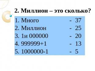 Order of money million billion trillion