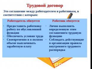 Трудовой конвенция Это конвенция в среде работодателем да работником, во соответствии