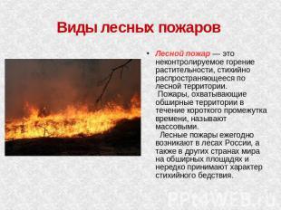 Лесные торфяные пожары презентация