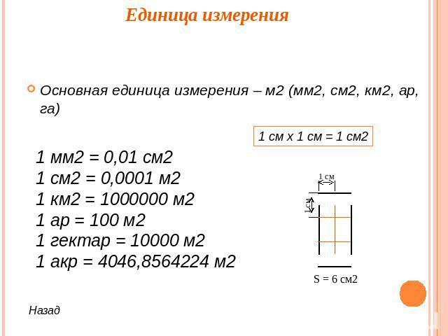 Шпаргалка по математике м2 дм2