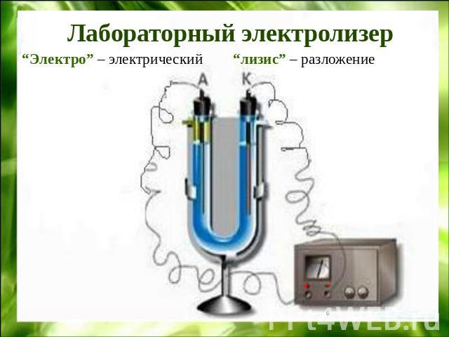 Прибор для электролиза