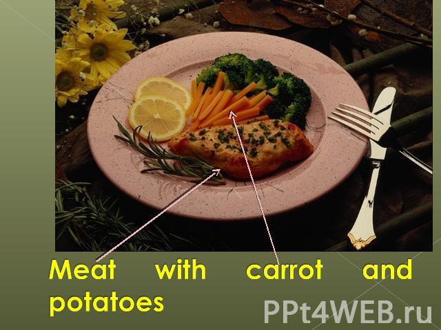 Meat with carrot and potatoes