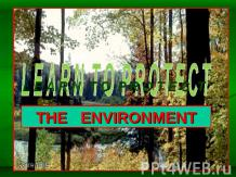 Learn to protect the Environment