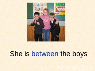 She is between the boys