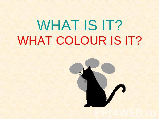 WHAT IS IT?WHAT COLOUR IS IT?