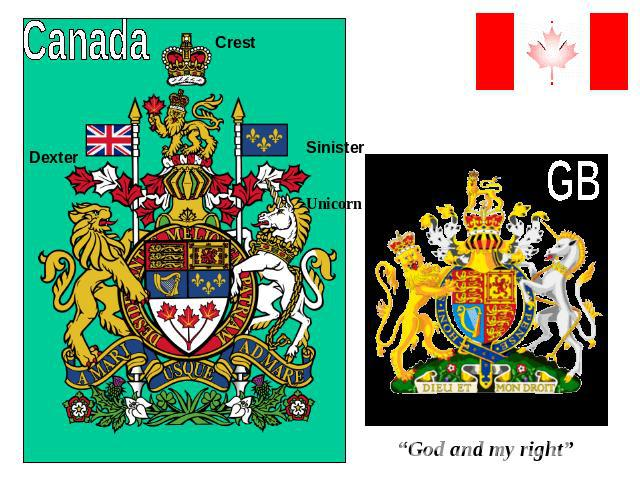 "Canada""God and my right"""