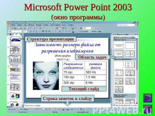 Microsoft Power Point 2003(окно программы)