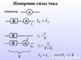 Измерение силы тока